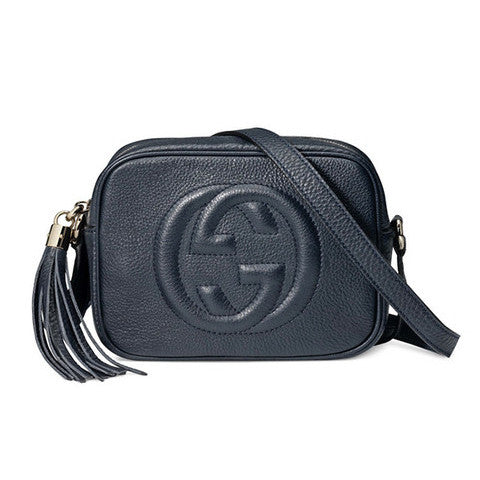 GUCCI Soho Leather Disco Bag - Navy