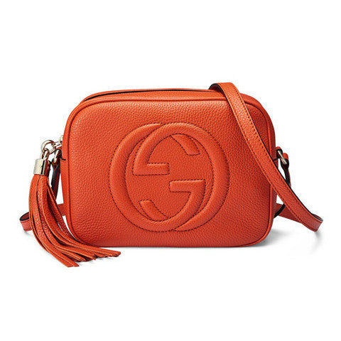 GUCCI Soho Leather Disco Bag - Orange