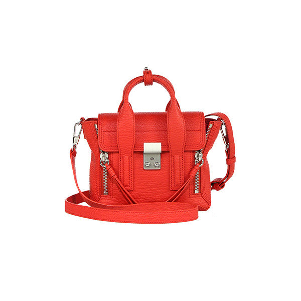 3.1 PHILLIP LIM Pashli Mini Satchel (AC00-0226KC-RED-NICKEL) - Shark Tank Taiwan