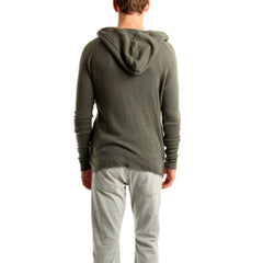 Fleece Zip Hoody in Dark Khaki<br/>卡其色拉鍊連帽外套 - Shark Tank Taiwan