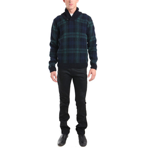 Heritage Plaid Shawl Collar<br/>格紋帽 Tee - Shark Tank Taiwan