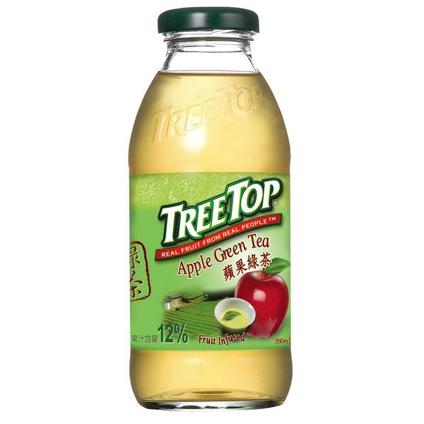 TREE TOP Apple Green Tea<br/>樹頂蘋果綠茶 360ML (24入/箱) - Shark Tank Taiwan