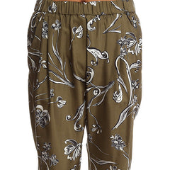 3.1 PHILLIP LIM Floral Print Draped Trouser<br/>鬆緊褲頭花褲