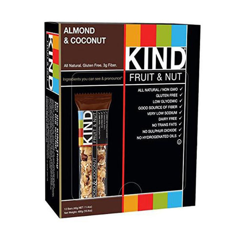 KIND Fruit & Nut, Almond & Coconut Energy Bars<br/>水果 & 堅果杏仁 & 椰子能量棒 (12入)
