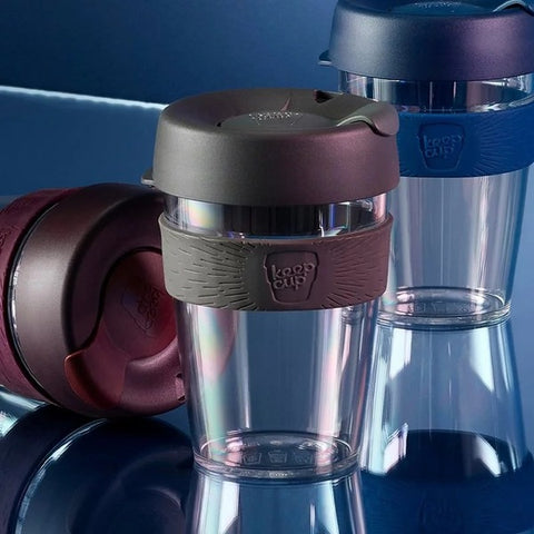 KEEPCUP Reusable Coffee Cup<br/>輕漾系列咖啡杯 340ml - 鎧甲銀