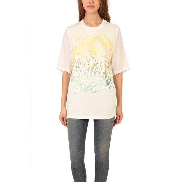 3.1 PHILLIP LIM Tidal Waves Hot Fix Muscle T-Shirt<br/>點畫印花上衣