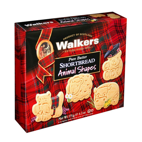 WALKERS Pure Butter - Shortbread Animal Shapes<br/>蘇格蘭皇家奶油系列 - 奶油動物造型餅乾 (6入/組) - Shark Tank Taiwan