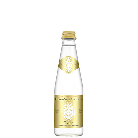 OMUSE Natural Spring Water, Lightly Sparkling<br/>法國歐慕仕卓越微氣泡礦泉水 - 330ml (12入/組)