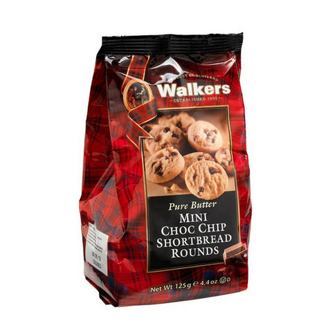 WALKERS Pure Butter - Mini Choco Chip Shortbread Rounds蘇格蘭皇家奶油系列 - 迷你奶油巧克力餅乾 (6入/組)