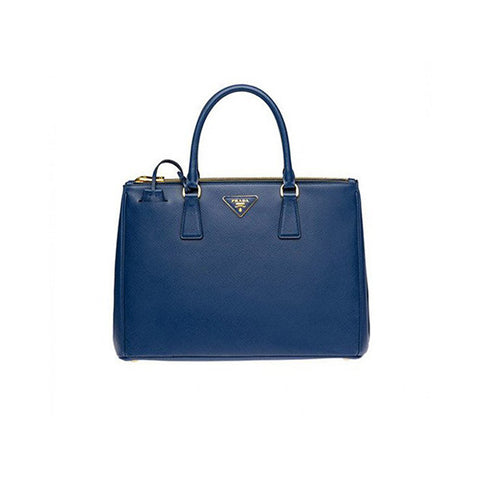 PRADA Galleria Saffiano Leather Tote<BR/>寶藍防刮牛皮殺手包 M