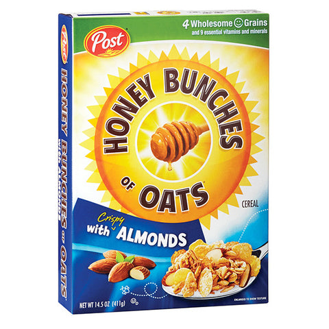 POST Honey Bunches Of Oats (HBO Cereal) with Almonds<br/>蜂蜜杏核麥片早餐 (2入/5入組)