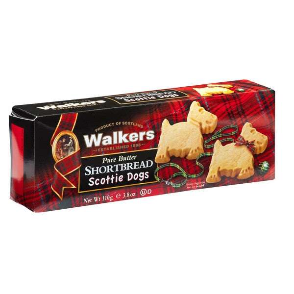 WALKERS Pure Butter - Shortbread Scottie Dogs<br/>蘇格蘭皇家奶油系列 - 梗犬造型奶油餅乾 (6入/組) - Shark Tank Taiwan