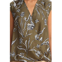 3.1 PHILLIP LIM Floral Print Soft Draped Sleeveless Blouse<br/>V領花紋背心 (共2色)
