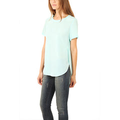 3.1 PHILLIP LIM Overlapped Side Seam Tee<BR/>素面開衩上衣 (綠)