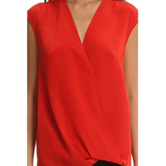 3.1 PHILLIP LIM Soft Draped Sleeveless Blouse<br/>交叉領雪紡背心 (紅)