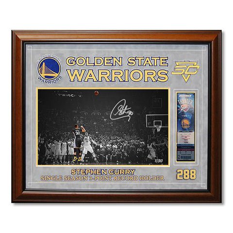NBA Stephen Curry Single-Season 3-pt Record Signature<br/> 史蒂芬·柯瑞三分球新紀錄紀念簽名照