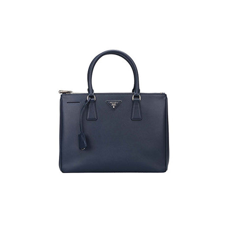 PRADA Galleria Saffiano Leather Tote<BR/>深藍防刮牛皮殺手包 M