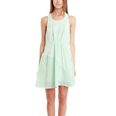 3.1 PHILLIP LIM Polka Dot Panels Gathered Front Dress<BR/>縷空格紋洋裝 (共2色)