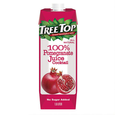 TREE TOP All Natural Pomegranate Juice<br/>樹頂 100% 石榴莓綜合果汁 1L (10入/箱)