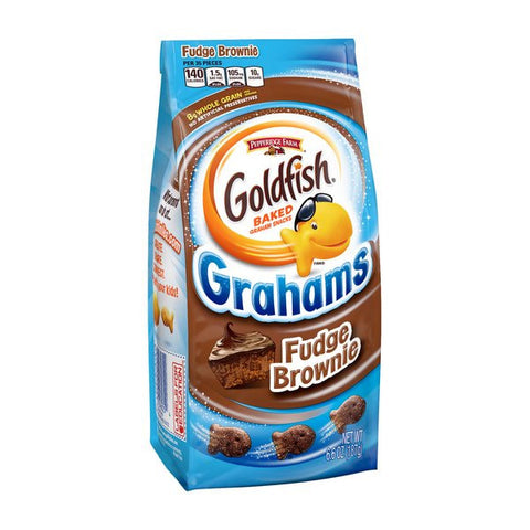 PEPPERIDGE FARM Goldfish Grahams - Fudge Brownie<br/>琣伯莉布朗尼小金魚香脆餅(6入)