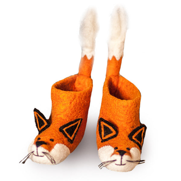 SEW HEART FELT Finlay Fox Adult Slippers</br>放牧小羊羊毛氈室內鞋 - 芬利小狐狸 (成人款) - Shark Tank Taiwan