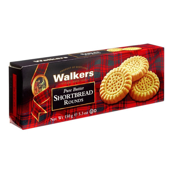 WALKERS Pure Butter - Shortbread Rounds<br/>蘇格蘭皇家奶油系列 - 圓形奶油餅乾 (6入/組) - Shark Tank Taiwan