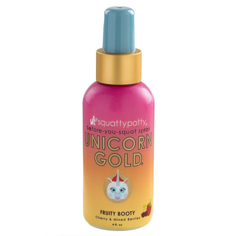 SQUATTY POTTY Unicorn Gold Potty Spray<br/>獨角獸彩虹黃金香氛噴霧 - Shark Tank Taiwan