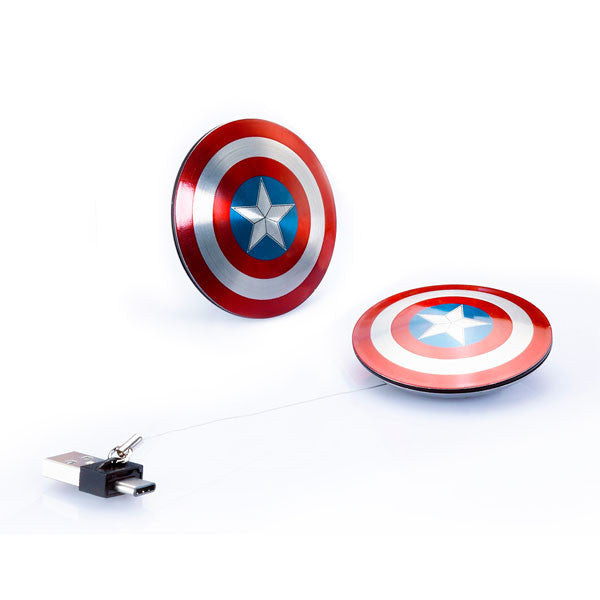 CAPTAIN AMERICA Civil War<br/>美國隊長 超薄盾牌 TYPE C / USB 雙頭隨身碟 (16GB/32GB) - Shark Tank Taiwan