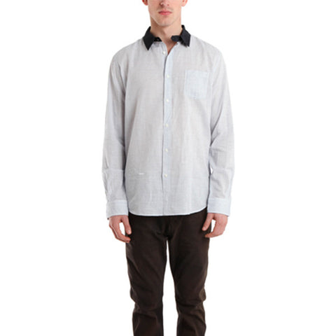 Contrast Collar Dress Shirt<br/>對比細橫紋襯衫