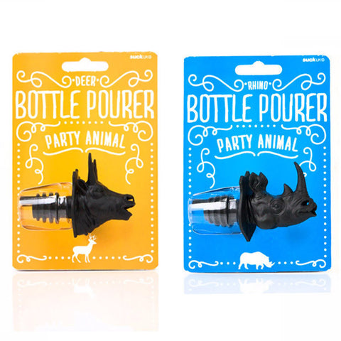 SUCK UK Party Animal Bottle Pourer<br/>派對動物倒酒器 (共2款)