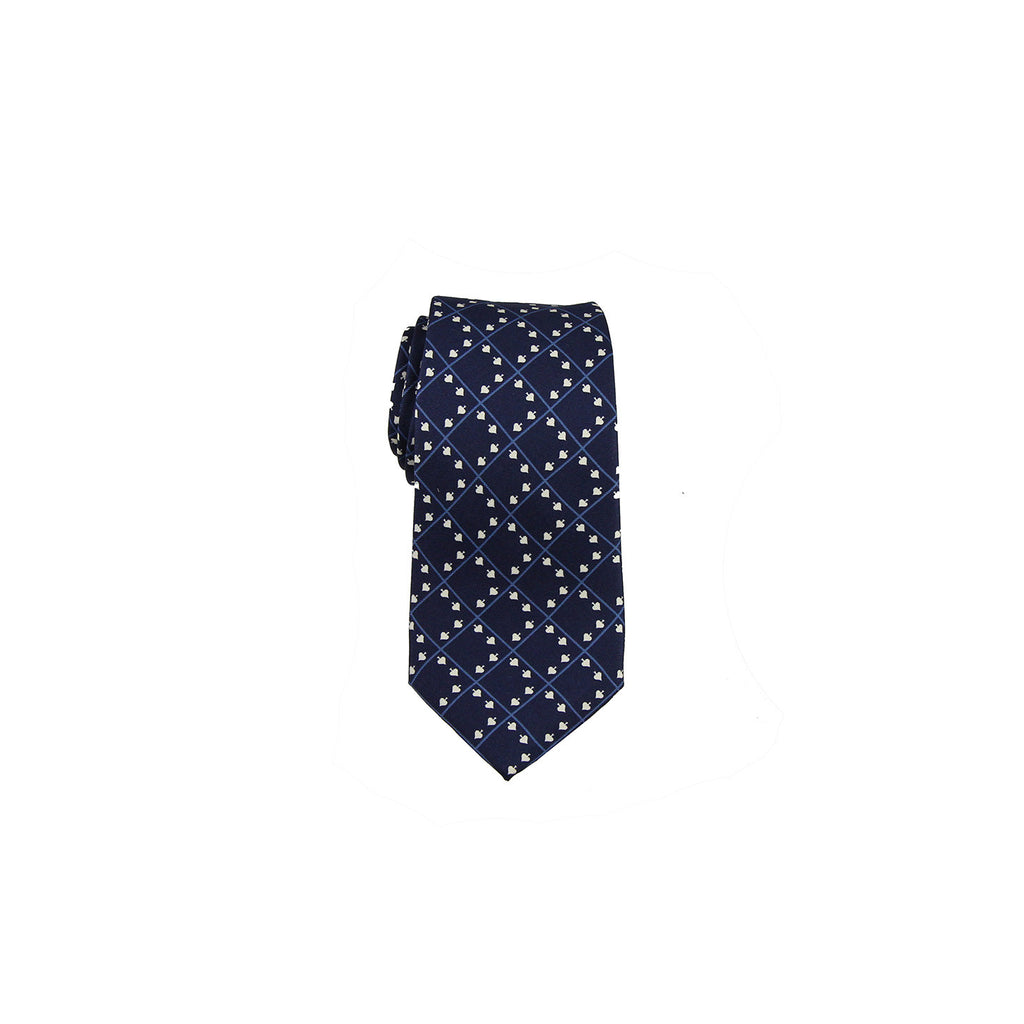 Valentino Tie 范倫鐵諾領帶 A85LSV1205 4 DARK BLUE WHITE - Shark Tank Taiwan