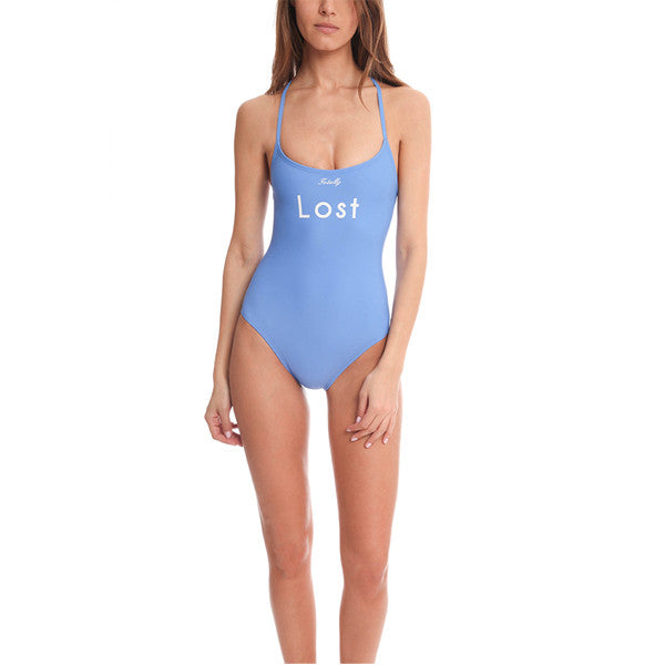 WILDFOX 1 Piece Blue Lagoon Swimsuit<br/>藍色連身泳裝 - Shark Tank Taiwan