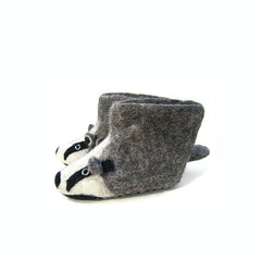 SEW HEART FELT Billie Badger Children's Slippers</br>放牧小羊羊毛氈鞋 - 比利獾 (童鞋) - Shark Tank Taiwan