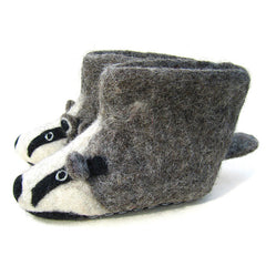 SEW HEART FELT Billie Badger Adult Slippers</br>放牧小羊羊毛氈室內鞋 - 比利獾 (成人款) - Shark Tank Taiwan