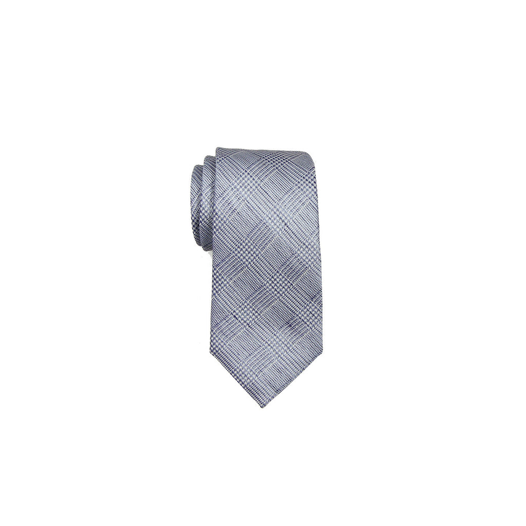 Valentino Tie 范倫鐵諾領帶 CCHPMST062 1 BLUE CHECK - Shark Tank Taiwan