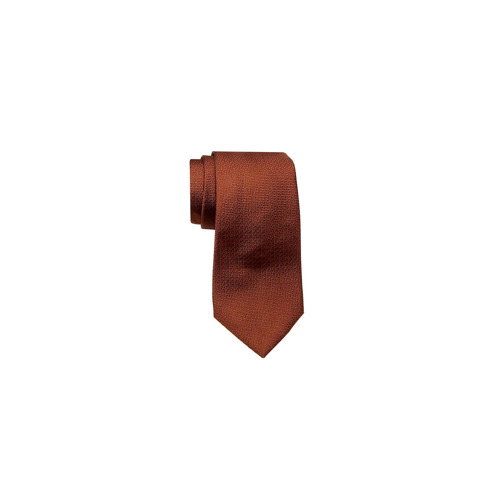 Valentino Tie 范倫鐵諾領帶 CZZSF01459 19 BROWN SQUARE - Shark Tank Taiwan