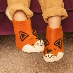 SEW HEART FELT Finlay Fox Children's Slippers</br>放牧小羊羊毛氈鞋 - 芬利小狐狸 (童鞋) - Shark Tank Taiwan