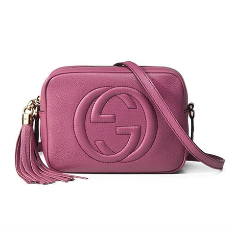 GUCCI Soho Leather Disco Bag - Dusty Rose