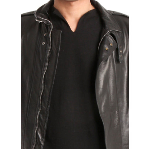 Glove Leather Bomber Jacket<br/>皮革夾克 - Shark Tank Taiwan