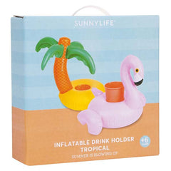 SUNNYLIFE Tropical Inflatable Drink Holder<br/>熱帶風情充氣飲料架組