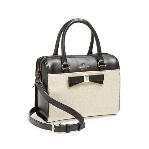 Kate Spade New York -  'holly street - ashton' leather & fabric crossbody satchel