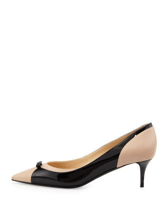 Jimmy Choo - Iguana Pointy Combo Bow Pump - Shark Tank Taiwan 歐美時尚生活網