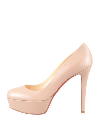Christian Louboutin - Bianca Almond-Toe Platform Red Sole Pump - Shark Tank Taiwan