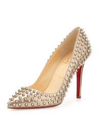 Christian Louboutin - Pigalle Patent Spikes Pump - Shark Tank Taiwan