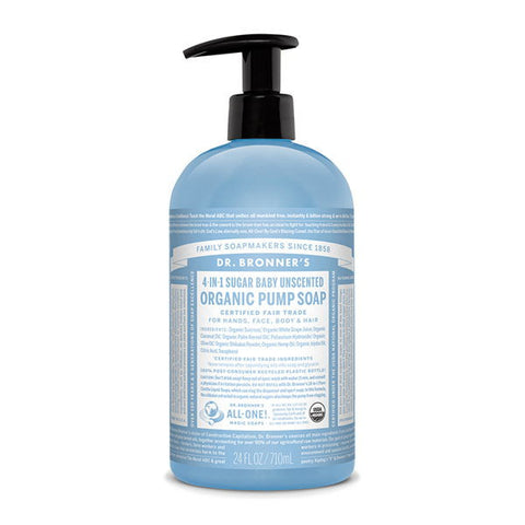 DR. BRONNERS Organic Pump Soap - Baby Unscented嬰兒沐浴露