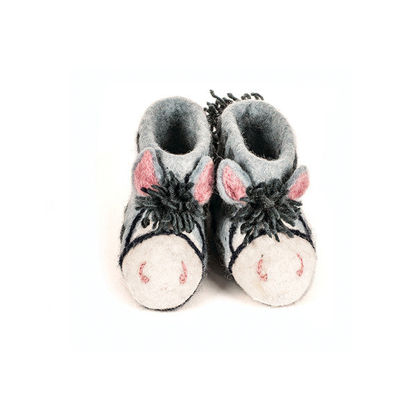 SEW HEART FELT Purdy the Pony Children's Slippers</br>放牧小羊羊毛氈鞋 - 農場小馬 (童鞋) - Shark Tank Taiwan