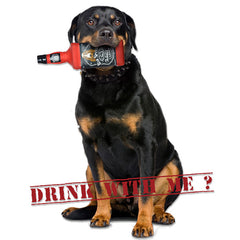 SILLY SQUEAKER Liquor Bottle Barks - Bad Spaniels<br/>壞犬角瓶咬咬玩具 - Shark Tank Taiwan