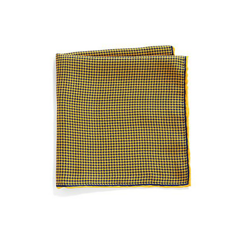Saks Fifth Avenue Collection - Silk Houndstooth Pocket Square