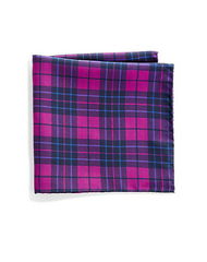 Saks Fifth Avenue Collection - Plaid & Polka Dot Silk Pocket Square (共5色) - Shark Tank Taiwan 歐美時尚生活網