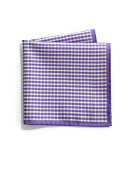 Saks Fifth Avenue Collection - Gingham & Paisley Silk Pocket Square - Shark Tank Taiwan 歐美時尚生活網